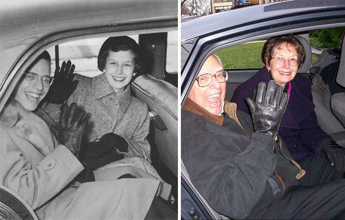 increibles imagenes de parejas antes y despues de muchos años1 Increíbles Imágenes de Parejas Antes y Despues de muchos Años