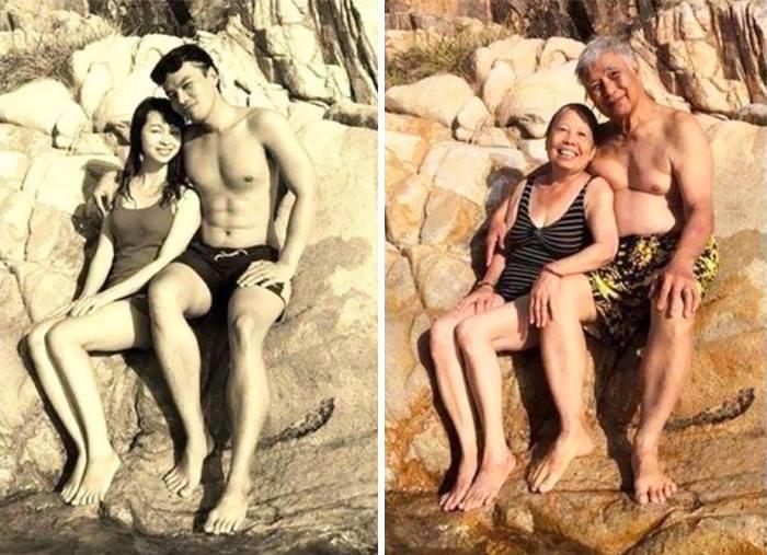 increibles imagenes de parejas antes y despues de muchos años10 Increíbles Imágenes de Parejas Antes y Despues de muchos Años