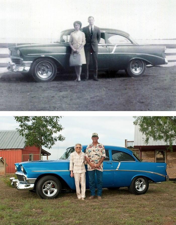 increibles imagenes de parejas antes y despues de muchos años12 Increíbles Imágenes de Parejas Antes y Despues de muchos Años
