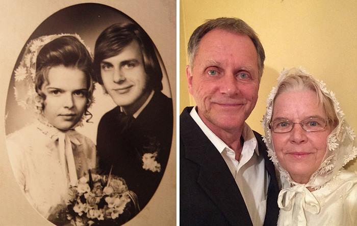 increibles imagenes de parejas antes y despues de muchos años13 Increíbles Imágenes de Parejas Antes y Despues de muchos Años