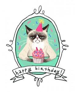 imagenes de cumpleaños en ingles gato enojado 245x300 Imágenes Cumpleaños en Ingles para Whatsapp