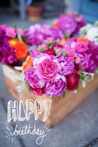 imagenes de cumpleaños en ingles lindas flores 200x300 Imágenes Cumpleaños en Ingles para Whatsapp