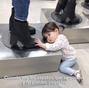 imagenes graciosas y divertidas los zapatos que quiero 300x294 80 Imágenes para Whatsapp Graciosas y Divertidas