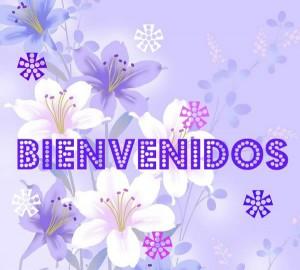 frases de bienvenida - tarjeta con flores