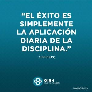 frases de disciplina - el exito