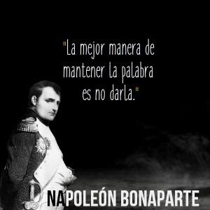 frases de napoleon bonaparte cita celebre 300x300 Imágenes con Frases de Napoleón Bonaparte