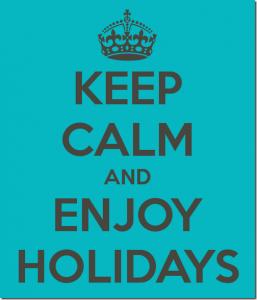 frases de vacaciones enjoy holidays 257x300 Imágenes con Frases de vacaciones
