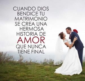 frases de bendiciones dios bendice tu matrimonio 300x284 Imágenes con frases de bendiciones para Whatsapp